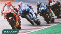 MotoGP - Marc Marquez, Alex Rins, Joan Mir, Fabio Quartararo (Bola.com/Adreanus Titus)