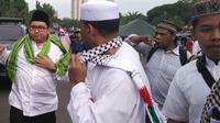 Wakil Ketua DPR, Fadli Zon, hadir di reuni aksi 212. (Liputan6.com/Devira Prastiwi)