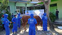 Politikus Demokrat Edhie Baskoro Yudhoyono atau Ibas menyerahkan 102 ekor hewan kurban. (Foto: Istimewa).