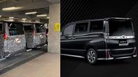 (Kiri) Toyota Voxy baru dan (Kanan) Toyota Voxy saat ini. (Twitter/Nami_tt8s - Toyota)