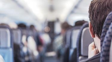 Ilustrasi penumpang pesawat.