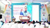 Wakil Ketua Umum Dewan Masjid Indonesia Syafruddin membuka Islamic book Fair 2019 yang di gelar di Kompleks Gelora Bung Karno (GBK), Rabu (17/2/2019). (Istimewa)