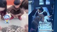 Guo Yifan belikan cincin ibunya dari uang celengan (Sumber: Pear Video)