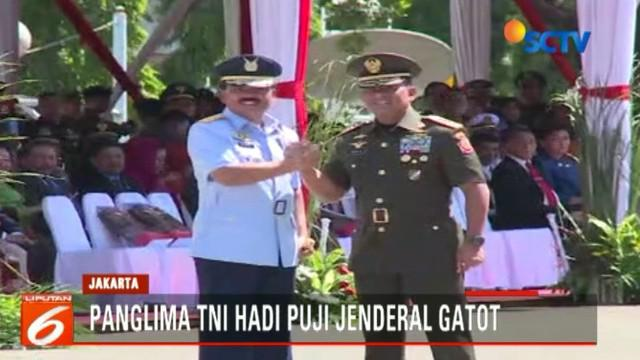 Jenderal Gatot Nurmantyo berhasil menjadikan TNI sebuah institusi yang handal, solid, dan paling dipercaya publik.