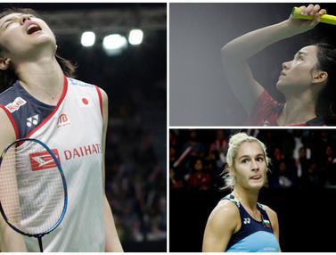 Mulai dari Ayane Kurihara hingga Gabriela Stoeva menjadi sejumlah pebulutangkis cantik yang tampil di Indonesia Masters 2019. (Bola.com/M. Iqbal Ichsan)