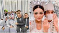 Potret kebahagiaan keluarga Gen Halilintar di acara ernikahan Atta Halilintar secara virtual. (Sumber: Instagram/@attahalilintar/@genhalilintar)