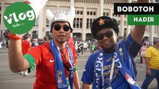Berita video VLOG langsung dari Moscow, Rusia, pada semifinal Piala Dunia 2018, Kroasia vs Inggris.