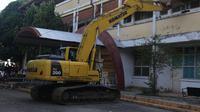 Tahapan pembangunan Stadion Andi Mattalatta Mattoangin resmi dimulai pada Rabu (21/10/2020) pagi. (Bola.com/Abdi Satria)