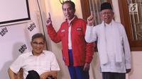 Tim TKN Jokowi-Ma'ruf Amin, Budiman Sudjatmiko saat berbicara pada diskusi di Rumah Cemara, Jakarta, Rabu (10/4). Diskusi bertema Hoax, Golput dan Masa Depan Bangsa. (Liputan6.com/Helmi Fithriansyah)