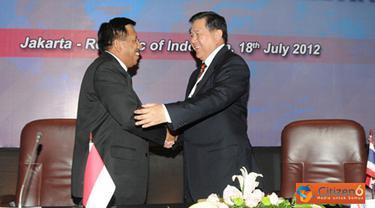 Citizen6, Jakarta: Sidang ke - 6 ITHLC 2012 ini, dibuka oleh Panglima TNI Laksamana TNI Agus Suhartono, dan akan membahas kerja sama di berbagai bidang antara lain intelijen, operasi dan latihan.(Pengirim: Badarudin Bakri).