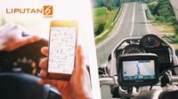 Banner Infografis Jangan Pakai GPS Saat Berkendara. (Liputan6.com/Abdillah)
