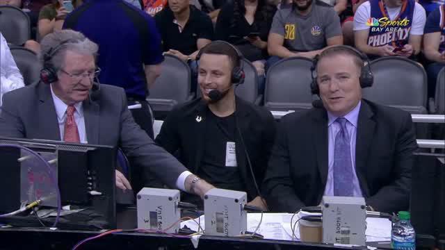 Berita video game recap NBA 2017-2018 antara Golden State Warriors melawan Phoenix Suns dengan skor 117-100.