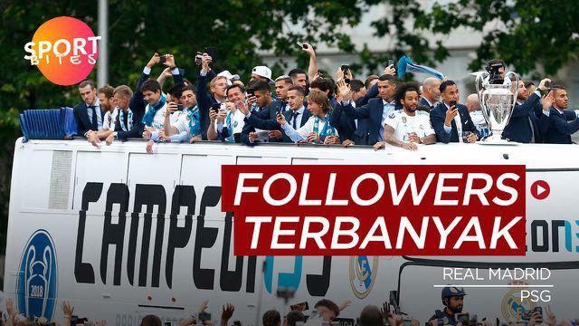 Berita video sportbites tentang lima klub sepak bola dengan pengikut terbanyak di Instagram.