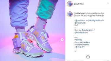Sepatu dari Kemasan BTS Meal Kreasi Seniman Singapura