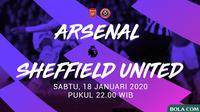 Premier League - Arsenal Vs Sheffield United (Bola.com/Adreanus Titus)