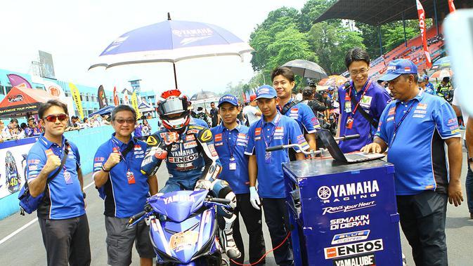 Wahyu Aji belum beruntung di race 1 ARRC Sentul (dok: Yamaha )