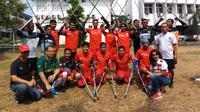 Calon Ketua Umum (Caketum) PSSI, Vijaya Fitriyasa, memberi dukungan kepada Tim Sepak Bola Amputasi Indonesia (INAF) (Foto: INAF)