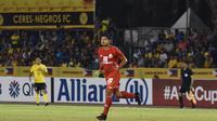 Striker Persija, Bambang Pamungkas, ketika berhadapan dengan Ceres-Negros di Stadion Panaad, Bacolod, Filipina, Rabu (3/4/2019). (Media Persija).