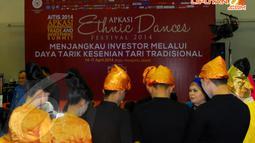APKASI berupaya mendorong para pelaku usaha di daerah untuk menjalin hubungan dagang dengan banyak negara sehingga mampu menerobos sekaligus memenangkan persaingan pasar di ASEAN di JIExpo, Kemayoran, Senin (14/04/2014) (Liputan6.com/Miftahul Hayat).