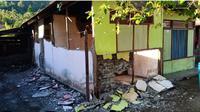 Gempa Halmahera Selatan, Maluku Utara menerjang permukiman di Desa Papaceda. (Dok Badan Nasional Penanggulangan Bencana/BNPB)