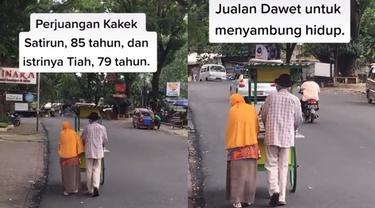 Perjuangan Kakek dan Istrinya Jualan Dawet Keliling Demi Sambung Hidup, Bikin Haru