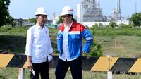 Presiden Jokowi dan Basuki Tjahaja Purnama atau Ahok saat kunjungi kilang Pertamina (dok: Biro Pers Istana)