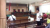 Suasana ruang sidang peninjauan kembali Basuki Tjahaja Purnama atau Ahok di PN Jakarta Utara. (Liputan6.com/Muhammad Radityo Priyasmoro)