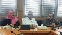 Disdik Sumsel, KPAI dan pihak sekolah saat membahas rapat tentang kekerasan yang terjadi di SMA Taruna Indonesia Palembang (Liputan6.com / Nefri Inge)