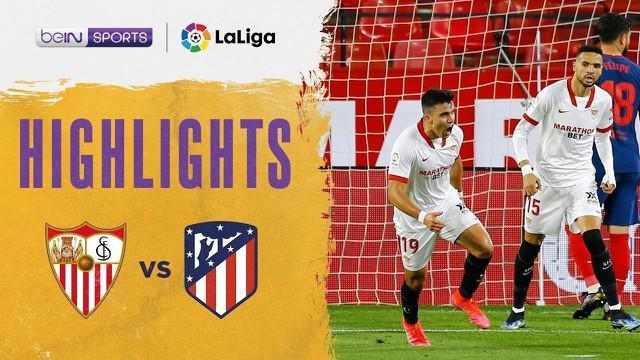 Berita video momen gol dalam highlights kemenangan 1-0 Sevilla atas Atletico Madrid pada pekan ke-29 Liga Spanyol 2020/2021, Senin (5/4/2021) dinihari WIB.