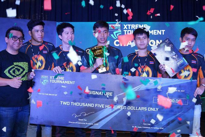 Team Signature juara pertama di kategori CS:GO GEXT 2017 SEA Finasl. (Doc: Nvidia)