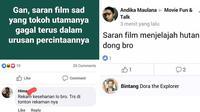 Status Facebook saat Tanya Judul Film (Sumber: