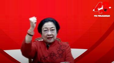 Ketua Umum PDI Perjuangan (PDIP) Megawati Soekarnoputri.