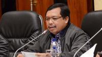 Wakil Ketua Komisi IV Herman Khaeron saat raker dengan Menteri LHK Siti Nurbaya di gedung DPR, Senayan.