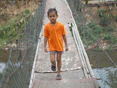 Jembatan Gantung di Jakarta Selatan Ini Ancam Keselamatan Warga