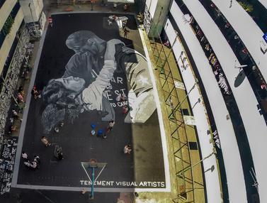 Mural Raksasa Kobe Bryant dari Seniman Filipina