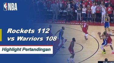 James Harden membukukan 38 poin dan meraih 8 rebound untuk membawa Houston Rockets menang atas Golden State Warriors di Game 4.