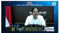 """Menteri ATR Sofyan Djalil pada acara Bincang Editor """"Sertifikat Tanah Elektronik, Bagaimana Penerapannya?"""". Liputan6.com"""