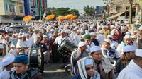 Rangkaian acara Ziarah Kubro, menyambut bulan suci Ramadhan di Kota Palembang.