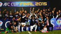 Johor Daril Takzim FC merayakan kesuksesan menjadi juara Piala AFC 2015. (AFC)