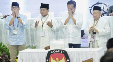 Jokowi-Ma'ruf Amin dan Prabowo-Sandiaga Uno