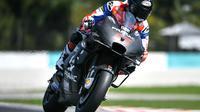 Francesco Bagnaia meraih posisi kedua pada hari terakhir tes pramusim MotoGP Sepang (Mohd RASFAN / AFP)