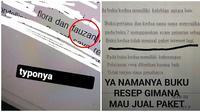 Deretan tulisan typo di tugas mahasiswa ini jadi nyeleneh banget. (Sumber: Twitter/@collegemenfess/@adindahdy)