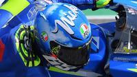 Pebalap Suzuki Ecstar, Andrea Iannone, akan mengawali balapan di grip nomor 16 pada MotoGP Mugello. (EPA/Luca Zennaro)