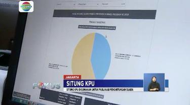 KPU memiliki situs publikasi yang menginformasikan penghitungan suara Pemilu 2019 bernama Situng.