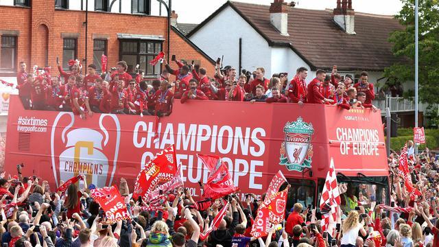 Suporter Liverpool Rayakan Kemenangan Liga Champions