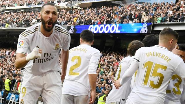 Penyerang Real Madrid, Karim Benzema.