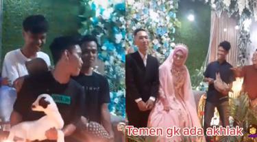 Viral, Aksi Nyeleneh Sumbang Hewan Ternak saat Resepsi Pernikahan
