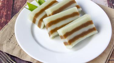 Resep Camilan Sehat Kue Lapis Tepung Beras Dua Warna