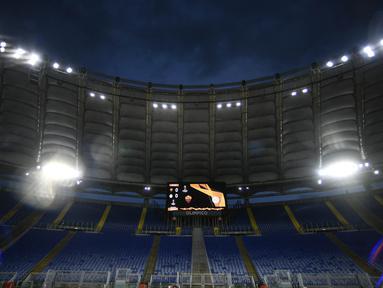 Stadion Olimpico akan menjadi salah satu venue Piala Eropa 2020. Stadion termegah di Ibukota Italia itu adalah markas dua tim papan atas Serie A asal ibu kota, Lazio dan AS Roma. (AFP/FIlippo Monteforte)