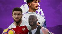 Premier League - Shkodran Mustafi, Eliaquim Mangala, John Stones (Bola.com/Adreanus Titus)